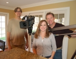 Homeowner Cammy Agraz with HGTV Producer and Photographer