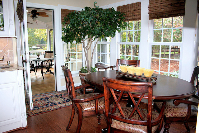 After Whole House Remodel - Breakfast Area & Screen Porch