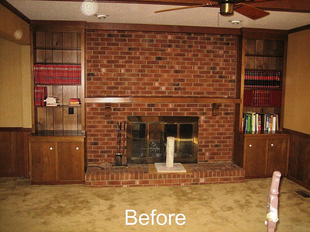Before Whole House Remodel - Family Room