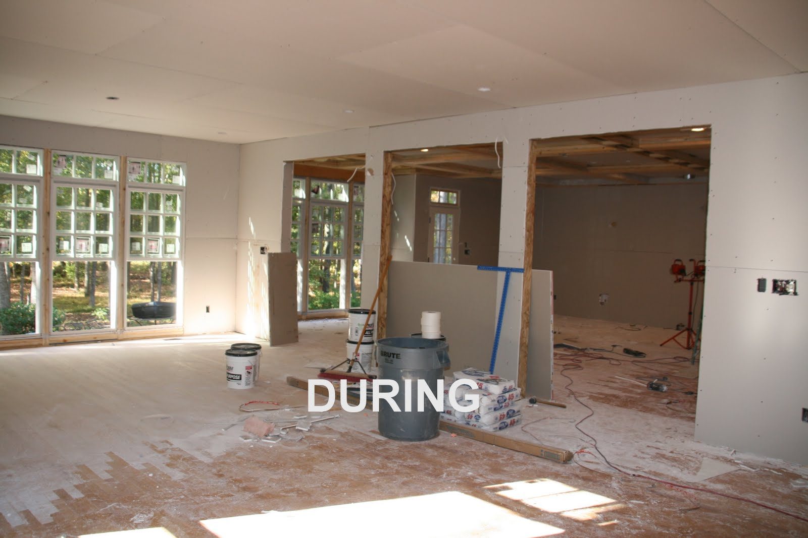 During Whole House Remodel - Family Room - Kitchen