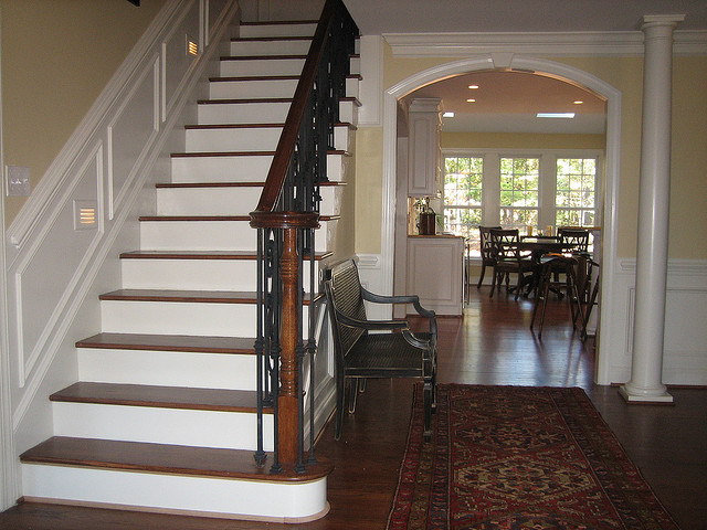 After Whole House Remodel - Foyer & Staircase