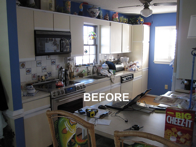 BEFORE - Galley Kitchen Remodel