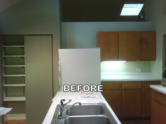 BEFORE - Kitchen Remodel - Wall Removed