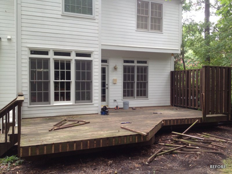 BEFORE - Rear porch & deck addition