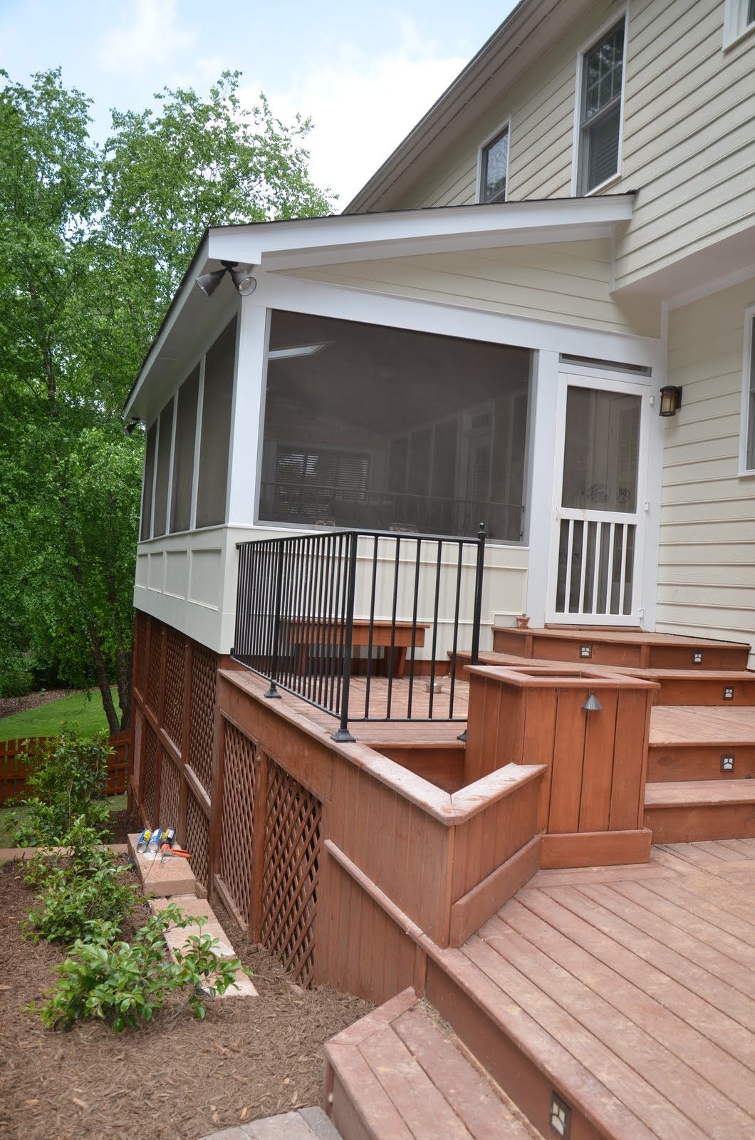 After Rear Porch and Deck Addition