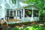 AFTER - Rear porch & deck  addition