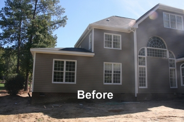 Before Screen Porch & Deck  Addition