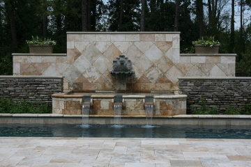 Best Outdoor Living Area - Pool and Fountian