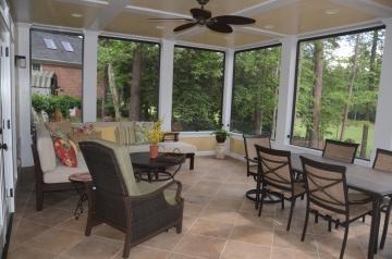 First Floor of Porch Addition Interior - Glass 1/4 Rail