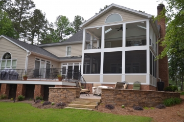 After Porch and Deck Addition - 2-Story