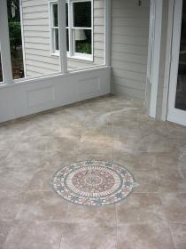 After Porch Tile Detail