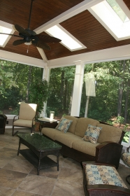 After Screen Porch Addition  - Interior of Screen Porch