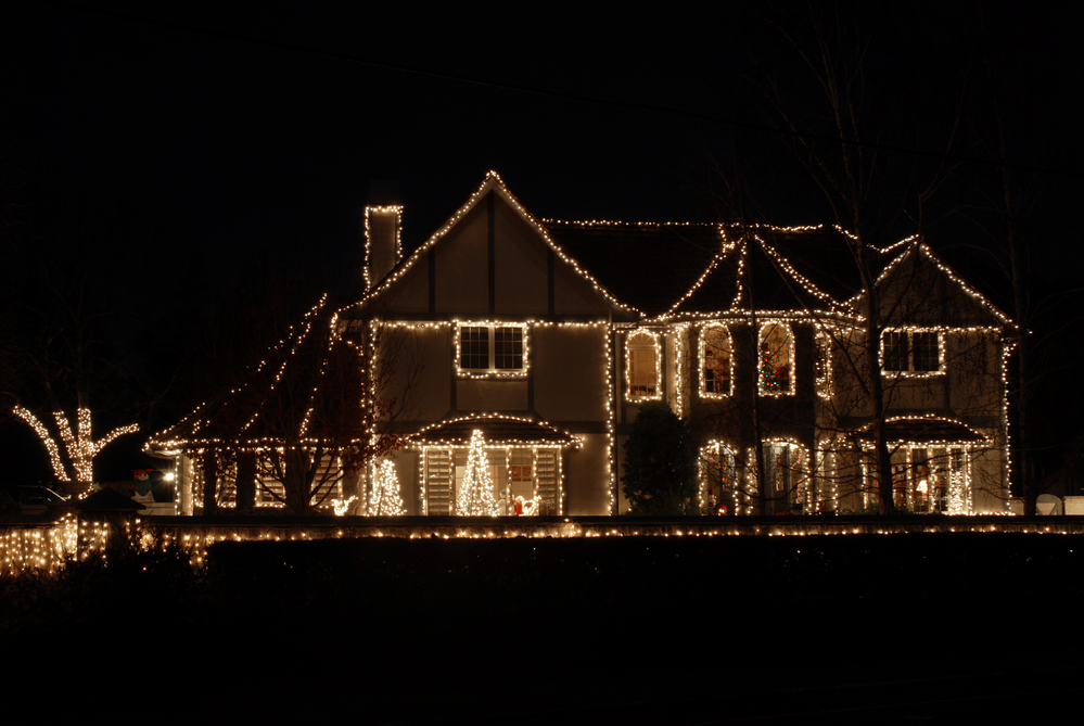 House Lit for the holidays