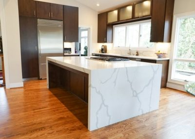 Beautiful water fall counter tops